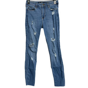 Hollister High Rise Skinny Jeans Classic 5 Blue